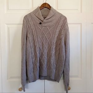 Neiman Marcus 3D Cable Knit Merino Wool Sweater